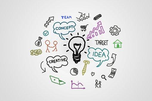Whiteboard, Marketing, Idea, Concept, Think