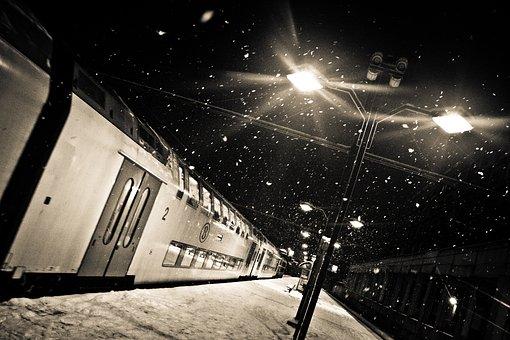 Train, Snow, Station, Namur, Winter, Travel, Cold