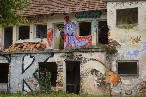 Graffiti, Lost Place, Ruin, Abandoned, Building, Decay