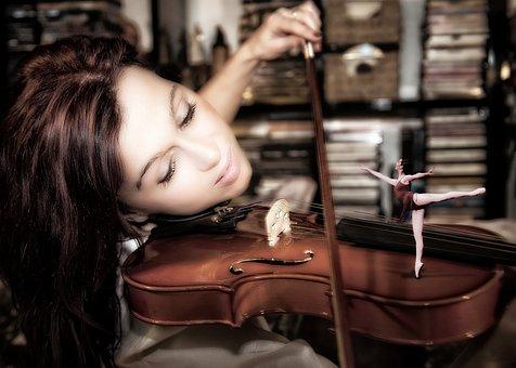 Violin, Ballerina, Music, Handling, Dance, Woman, Sound