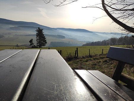Fog, Field, Hiking, Mountains, Rest, Beautiful View