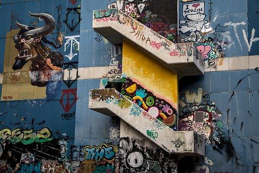 Berlin, Teufelsberg, Interception Station, Graffiti