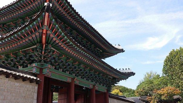 Republic Of Korea, Hanok, Korea, Traditional, Palace