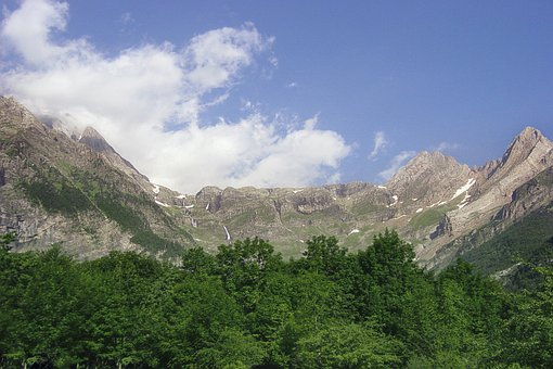 Landscape, Mountains, Nature, Sky, Clouds, Pyrenees