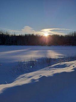 Snowdrift, Sunshine, Winter, Snow
