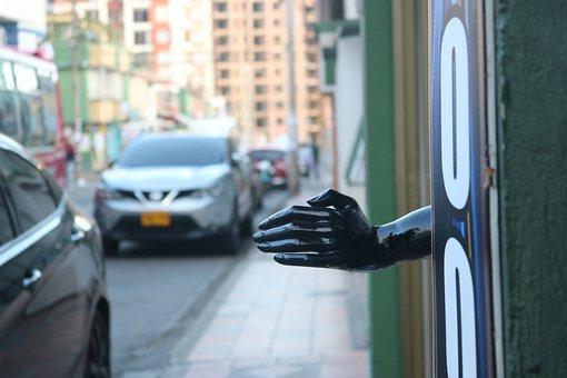 Urban, Hand, Mannequin, Street, City