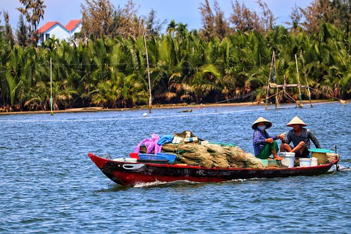 Vietnam, Hoi An, Fishing Boat, Fisherman, River