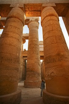 Karnak, Temple, Egypt, Luxor, Columns, Sculpture