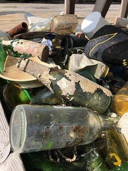 Garbage, Bottles, Sea, Ocean, Waste