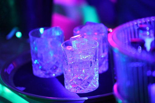 Drink, Glass, Ice, Party, Disco, Liquid, Ice Cubes