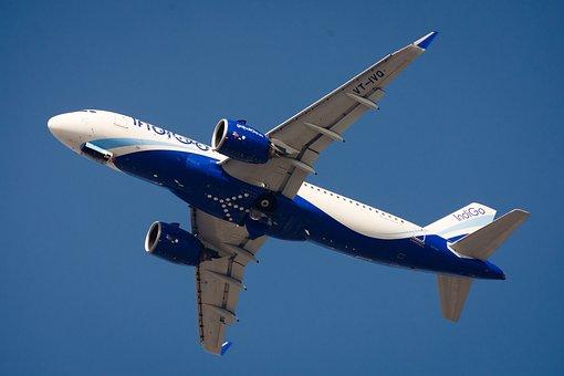 Airplane, Aeroplane, Fly, Sky, Blue