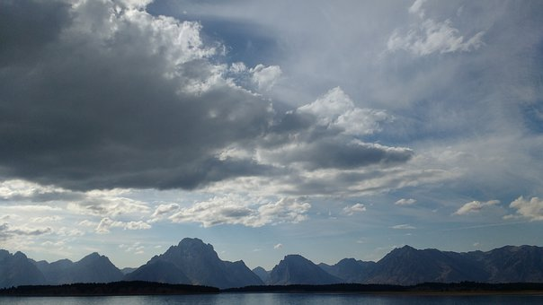 Grand Tetons, Mountains, Lake, Nature