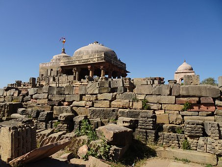Temple, Religious, Hinduism, Harshat Mata Temple, Ruins