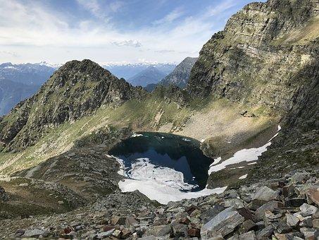 Lago Di Canee, Alpine Route, Alps, Alpine, Walk, Sky