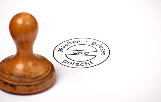 Stamp, Wood Stamp, Round, Seen, Read