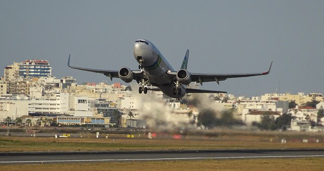 Aircraft, Start, Flying, Airport, Travel, Departures