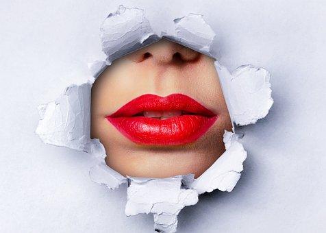 Makeup, Beauty, Lipstick, Lips, Model, Woman, Paper
