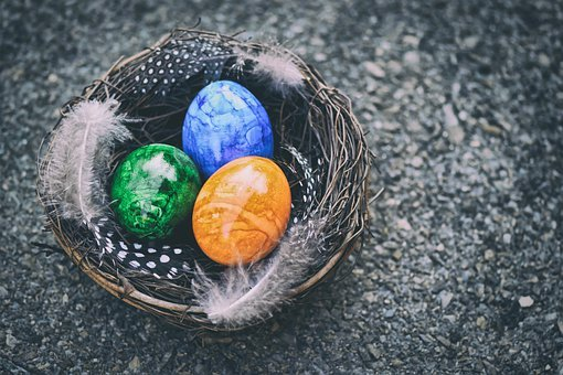 Easter Eggs, Easter Nest, Easter, Decoration, Spring