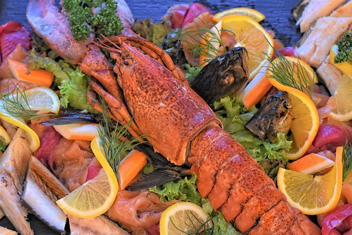 Lobster, Fish Plate, Smoked Fish, Smoked, Decoration