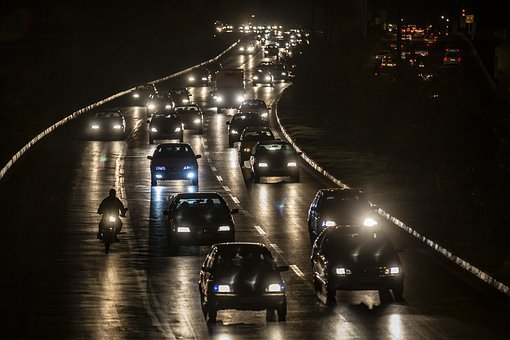 Cars, Traffic, Qom, Iran, Light, Urban