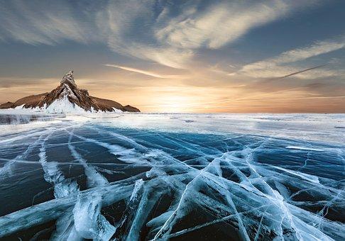 Frozen Lake, Snow, Nature, Landscape, Light, Ice Self