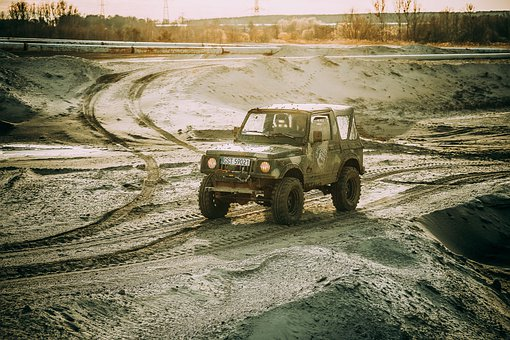 Local, Area, Offroad, 4 X 4, Off Roader, Car, Dirty