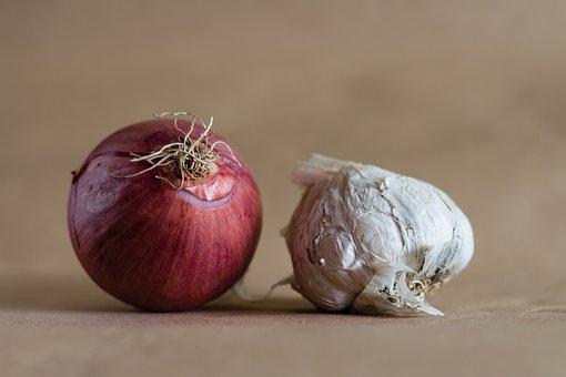 Onion, Garlic, Food, Vegetables, Cooking, Health