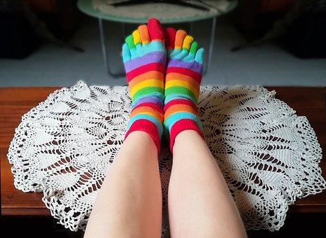 Socks, Relaxation, Sofa, Rest, Funny