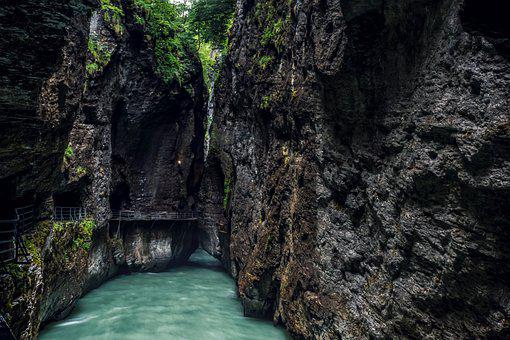 Gorge, Water, Creek, River, Rock, Nature, Wilderness