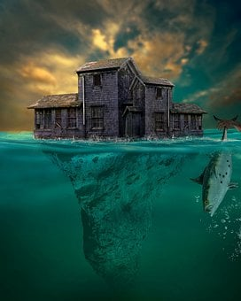 House, Prison, Abandoned, Isolated, Sea, Creepy, Scary