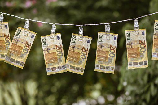 Money, Money Laundering, Seem, Euro Bills, Currency