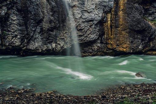Waterfall, Rock, Stone, Landscape, River, Mood, Scenic