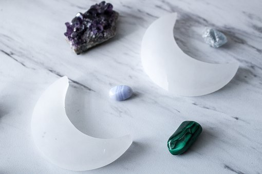 Crystals, Selenite, Stones, Stone, Gypsum, Mineral