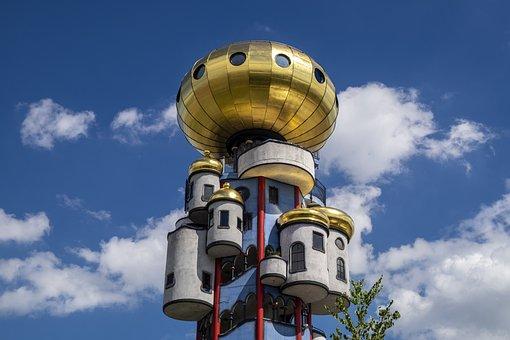 Beer Tower, Tower, Hundertwasser, Mugs, Dome, Sky