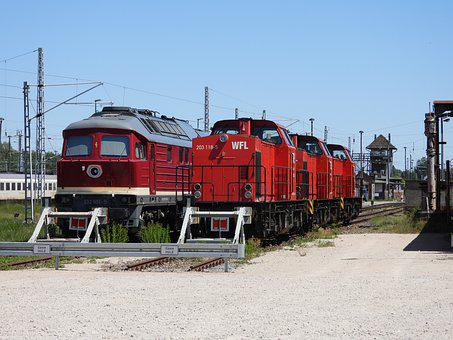 Diesel Locomotive, Switcher, Locomotive, Train