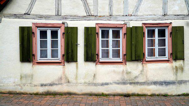 Truss, Fachwerkhaus, Window, Shutters, Wood