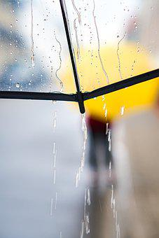 Rainy Day, Umbrella, Walk, Rain, Weather, Raindrop