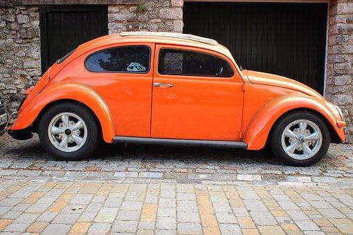 Vw, Beetle, Volkswagen, Car, Vehicle, Classic, Oldtimer
