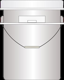Bucket, Pail, Tub, Container, 5, 4, Gallon, Orange