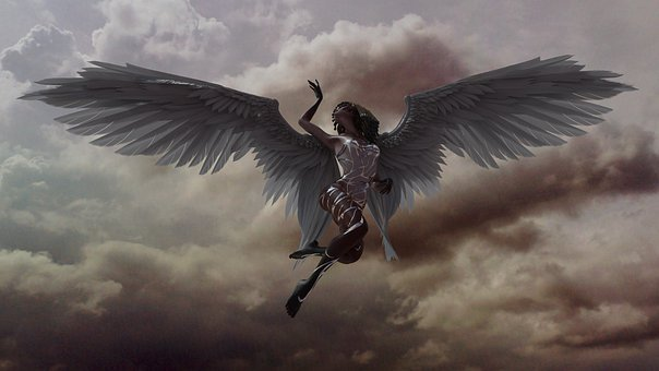 Angel, Sky, Heaven, Paradise, Dramatic