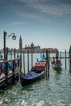 Venice, Italy, Gondola, Water, Architecture, City