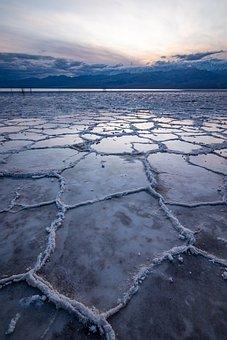Death Valley, Bad Water, Dry, Badwater, Salt Lake, Salt