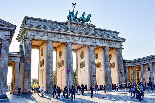 Brand Front Of The Brandenburg Gate, Berlin