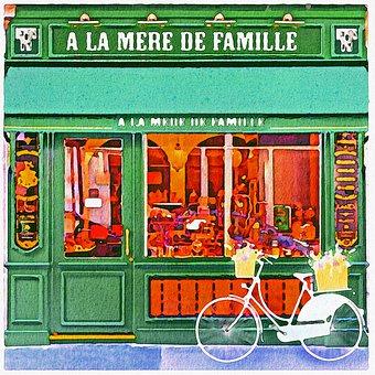 Watercolor Shops, Boutiques, Paris, Boutique, Parisian