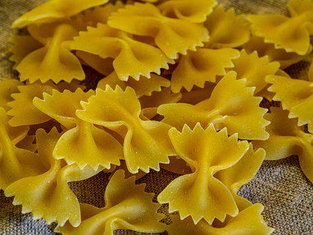 Fan, Pasta, Pile, Group, Yellow, Cereals, Foodstuffs