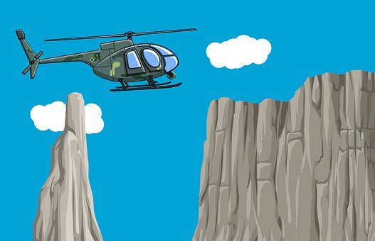 Helicopter, Mountain, Chopper, Transportation, Aircraft