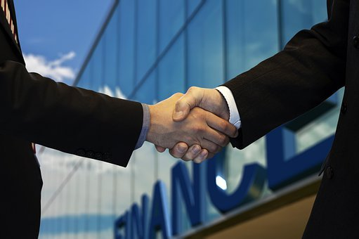 Shaking Hands, Company, Office, Financial World