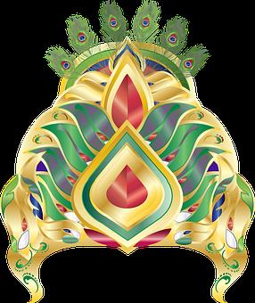 Graphic, Mukut, Crown, Peacock