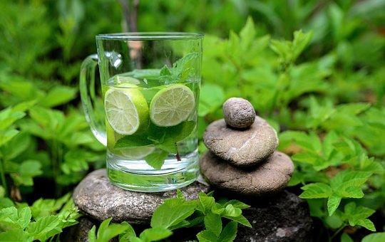 Mint, Peppermint, Detox, Detox Water, Water, Lime