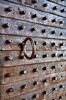 Door, Iron, Knocker, Metal, Rust